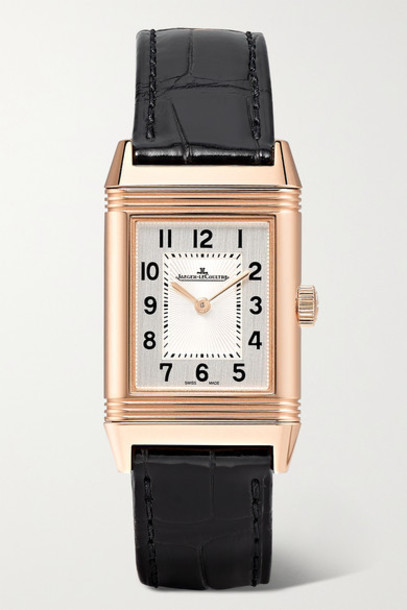 Jaeger-LeCoultre - Reverso Classic Small 21mm Rose Gold And Alligator Watch