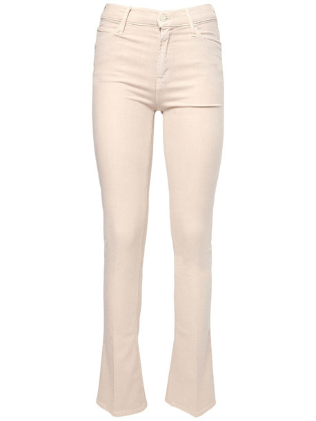 MOTHER The Runaway Staright Jeans in ivory