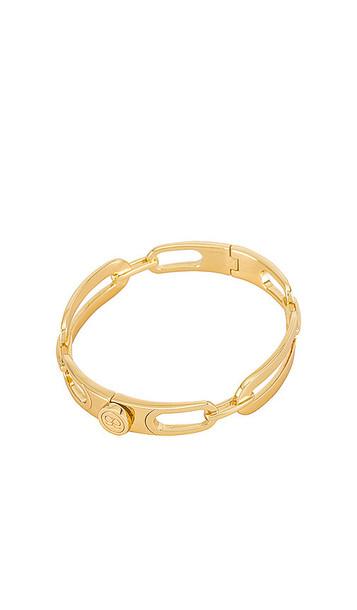 gorjana Parker Link Bracelet in Metallic Copper in gold