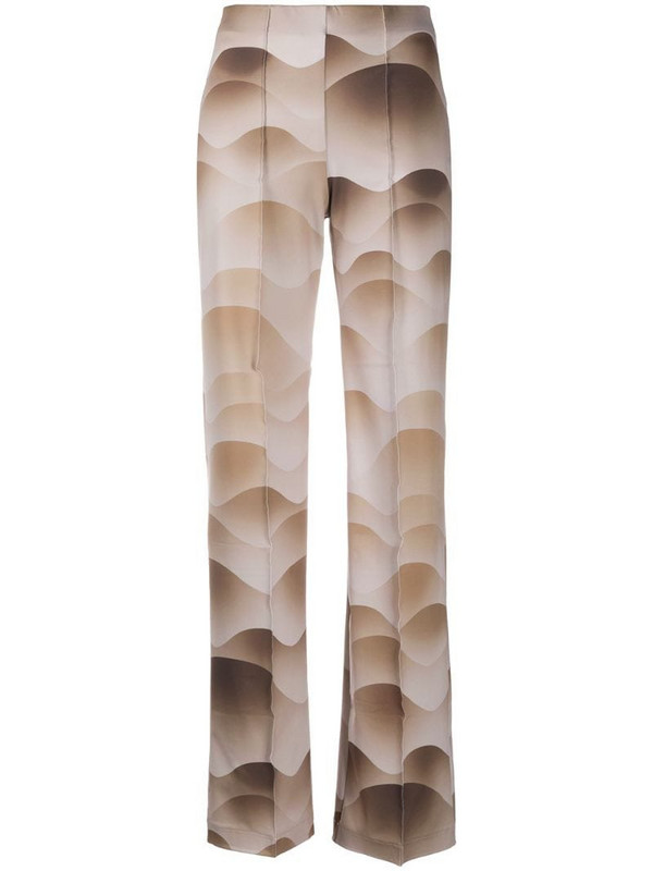 Saks Potts wave print trousers in neutrals