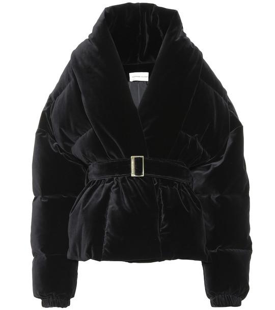 Alexandre Vauthier Quilted velvet jacket in black