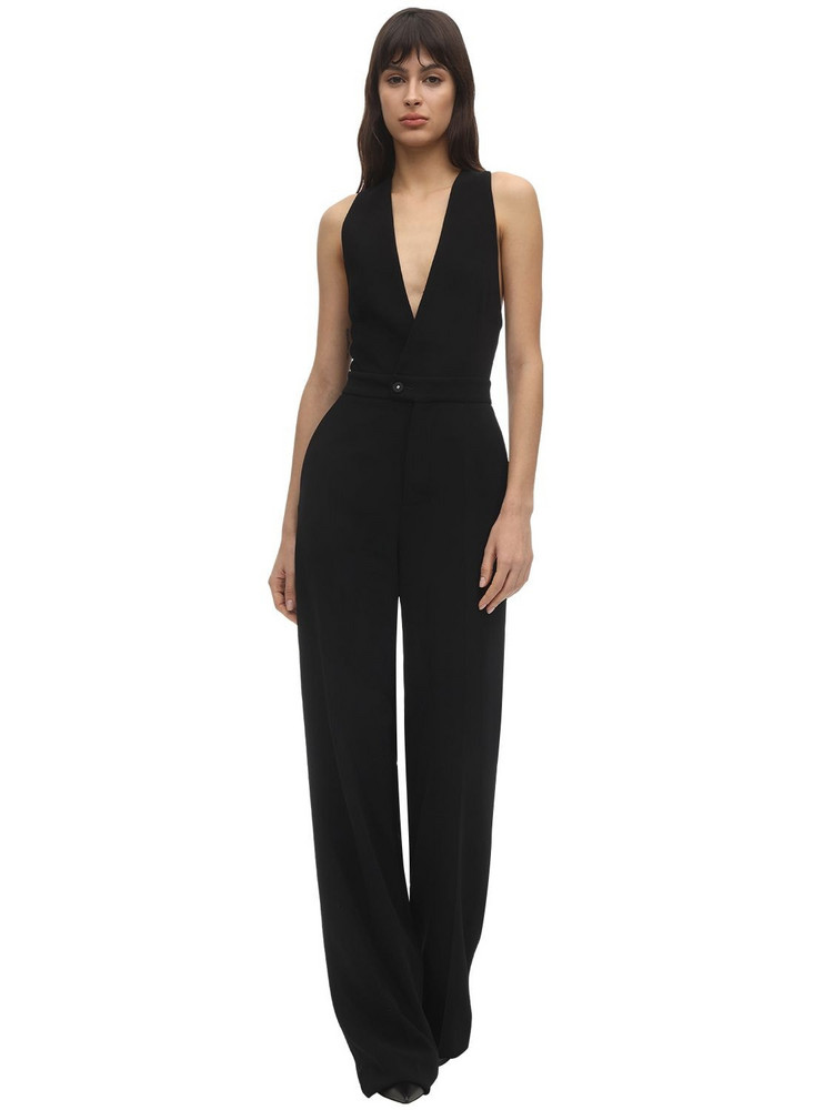 DSQUARED2 Stretch Crepe Jumpsuit in black