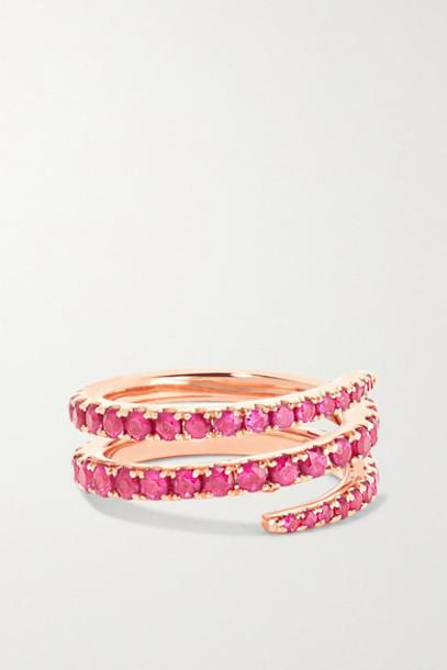 Anita Ko - 18-karat Rose Gold Ruby Pinky Ring