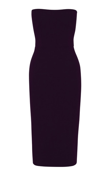 Alex Perry Ryan Stretch Crepe Strapless Dress Size: 12 in purple