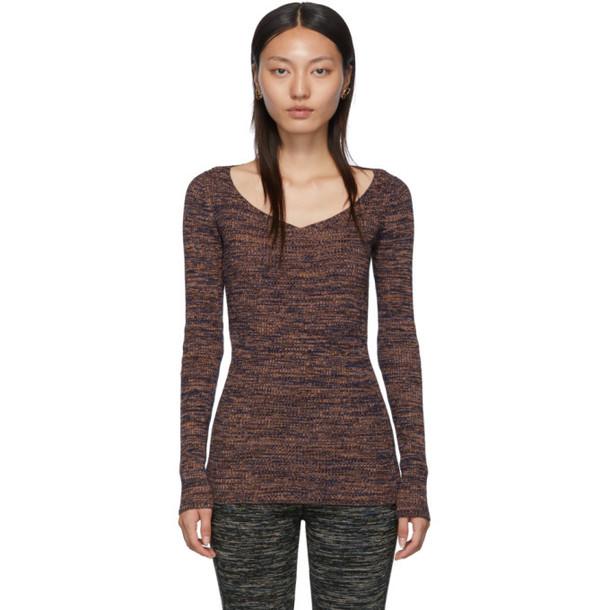 M Missoni Orange V-Neck Sweater