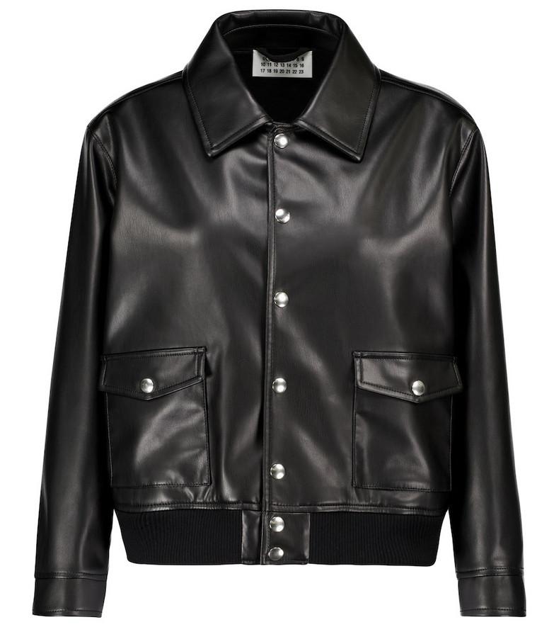 Maison Margiela Faux leather jacket in black