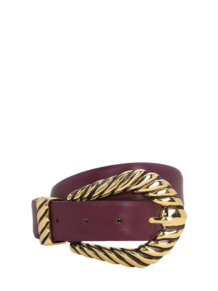 ALBERTA FERRETTI 30mm Leather Belt in purple