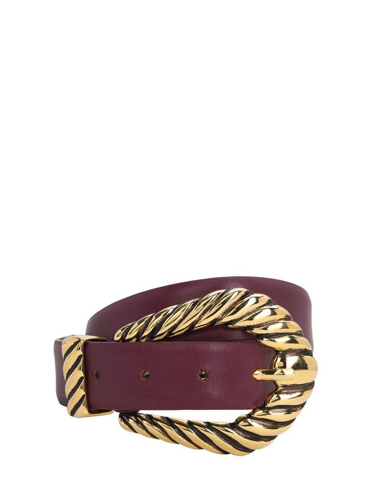 ALBERTA FERRETTI 30mm Leather Belt in purple