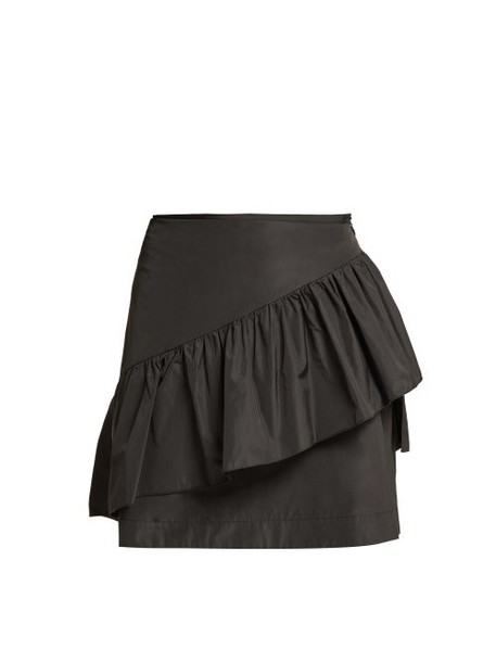 See By Chloé See By Chloé - Ruffled Taffeta Mini Skirt - Womens - Black