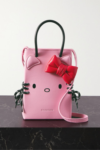 Balenciaga - Hello Kitty Mini Printed Leather Shoulder Bag - Baby pink