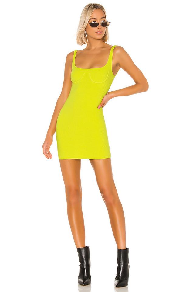 h:ours Rita Mini Dress in yellow
