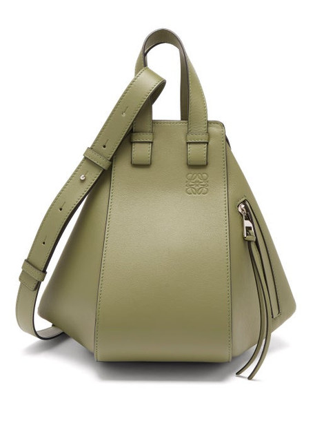 Loewe - Hammock Small Smooth-leather Tote Bag - Womens - Green