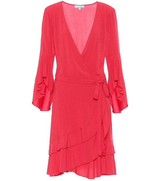 Melissa Odabash Kirsty mini wrap dress in red