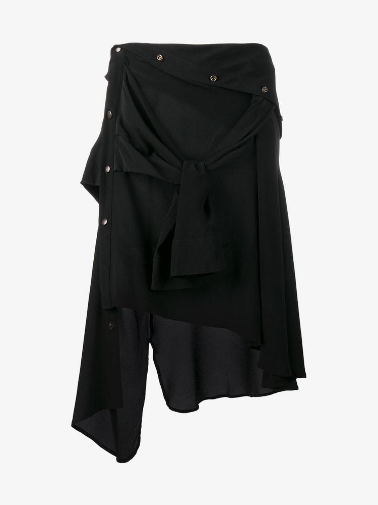 Faith Connexion asymmetric hem skirt in black