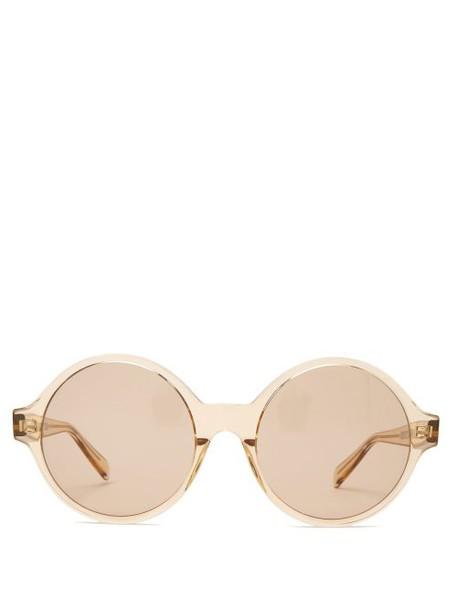 Celine Eyewear - Oversized Acetate Sunglasses - Womens - Light Brown