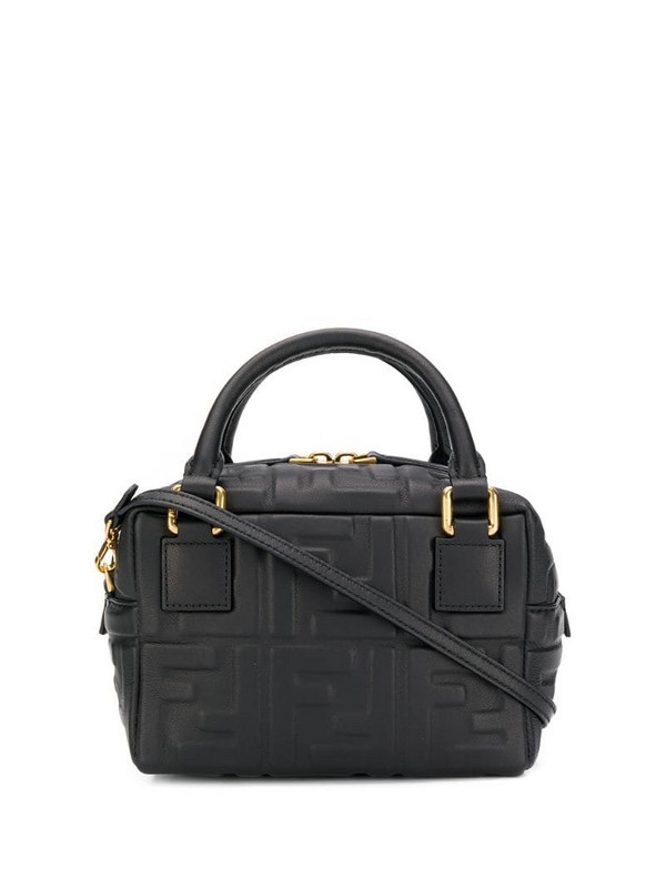 Fendi FFreedom embossed shoulder bag in black