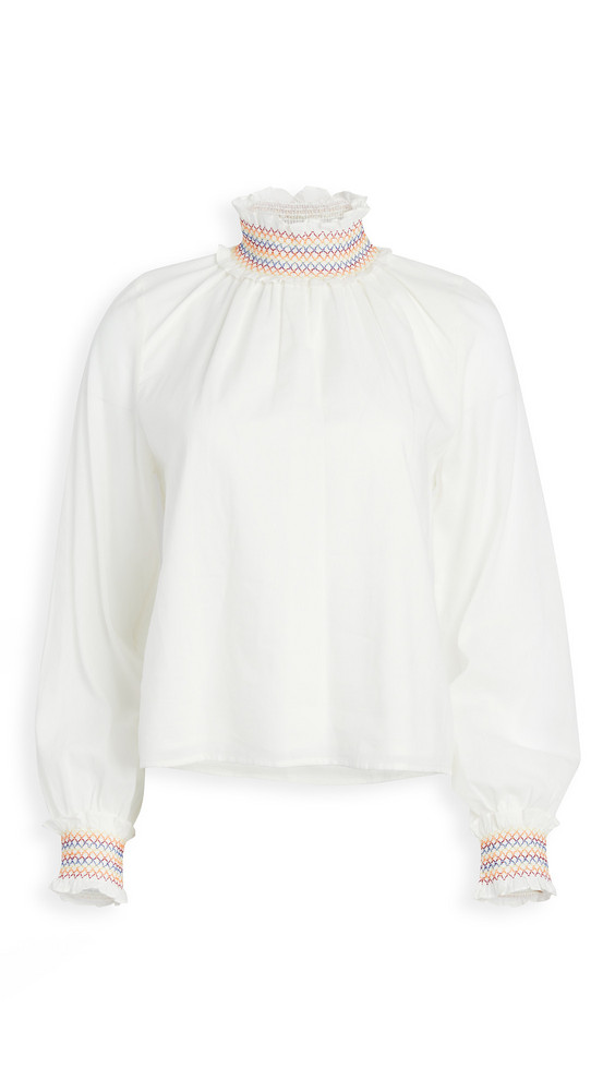 Warm Daisy Blouse in ivory