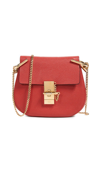 What Goes Around Comes Around Chloe Mini Drew Bag in red