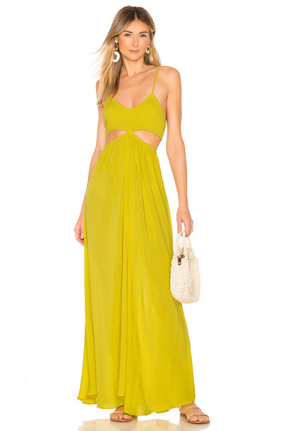 72eff9348b682 Indah Innocence Maxi Dress in yellow - Wheretoget