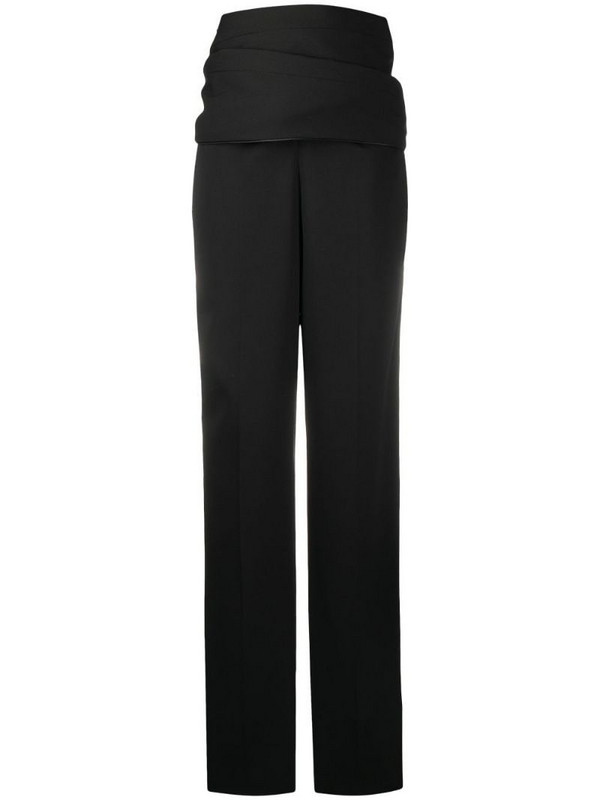 Y/Project high-waisted draped trousers in black