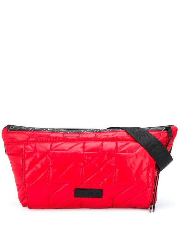Eastpak quilted belt bag in red
