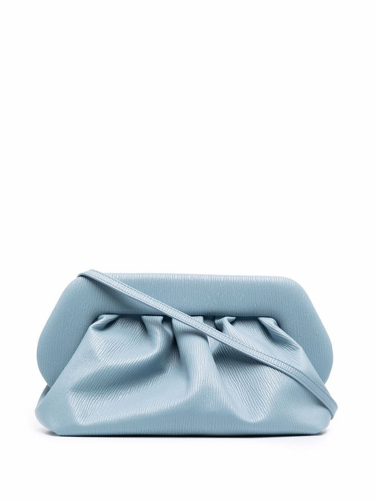 Themoirè Themoirè gathered clutch bag - Blue