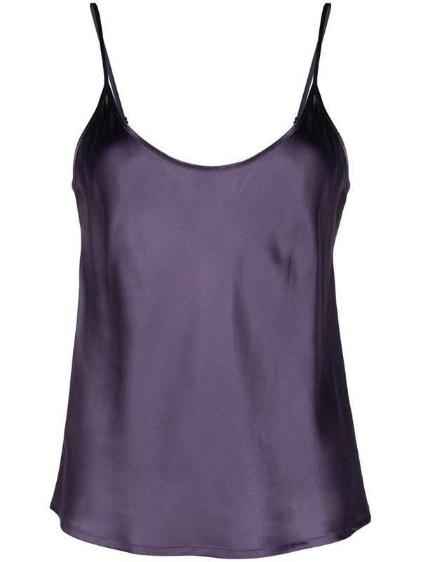 La Perla Brenda silk camisole top in purple