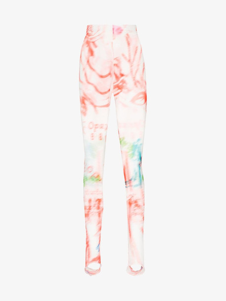 Chopova Lowena Wedding print sheer leggings