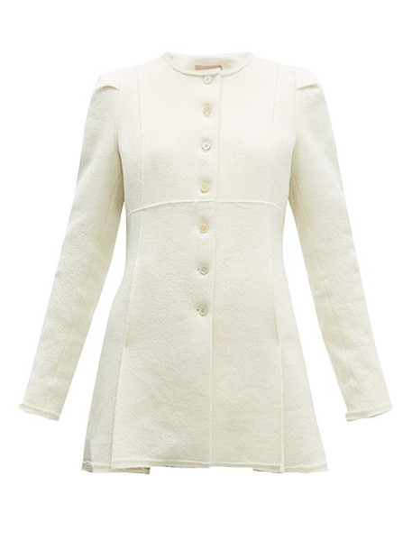 Brock Collection - Paoli Exposed Seam Single Breasted Bouclé Jacket - Womens - Cream