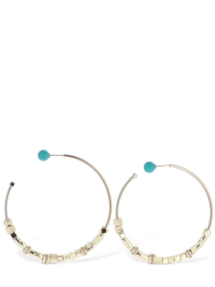 IOSSELLIANI Large Reversible Hoop Earrings in gold