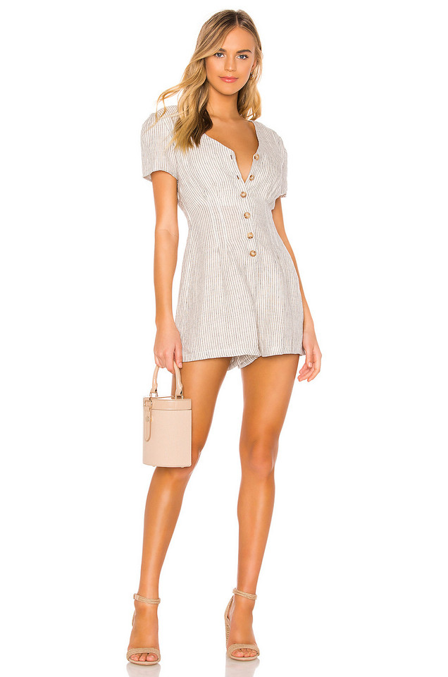 HEARTLOOM Kate Romper in white