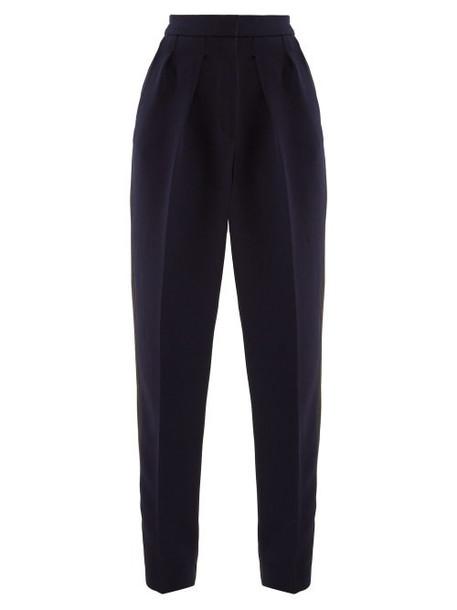 Roksanda - Ragosta Side Stripe Twill Trousers - Womens - Navy Multi