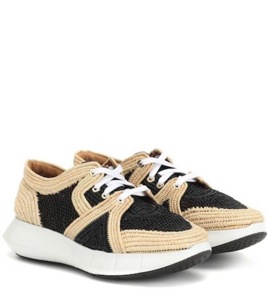 Clergerie Aero raffia sneakers in beige