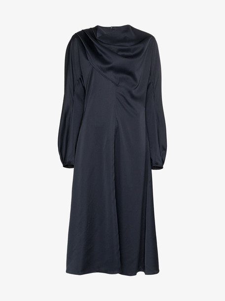 Low Classic High-neck dress in blue
