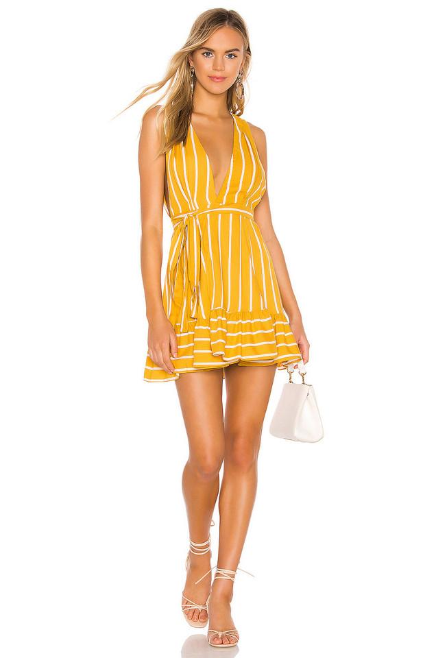 Jen's Pirate Booty X REVOLVE Moonage Mini Dress in mustard