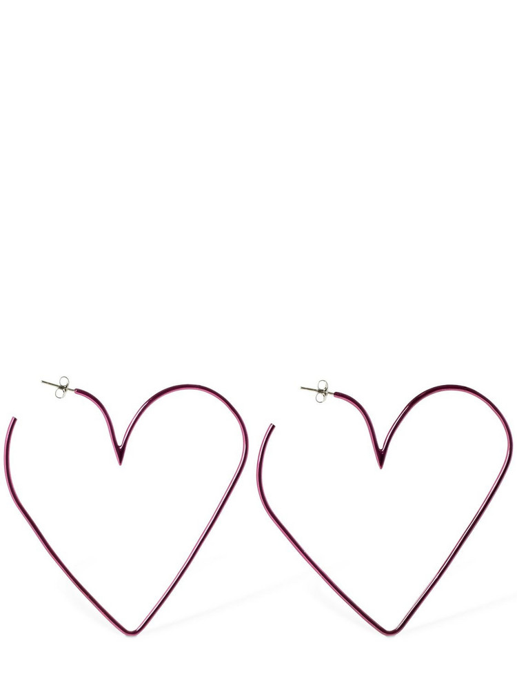 ISABEL MARANT In Love Big Hoop Earrings in fuchsia