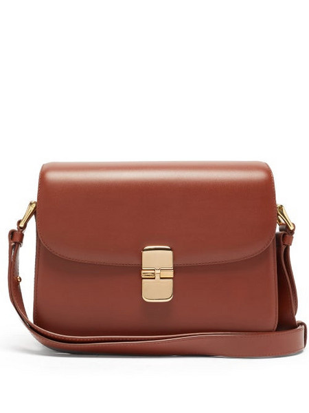A.P.C. A.P.C. - Grace Small Smooth-leather Cross-body Bag - Womens - Tan