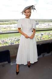 dress,midi dress,celebrity,lottie moss,white,white dress