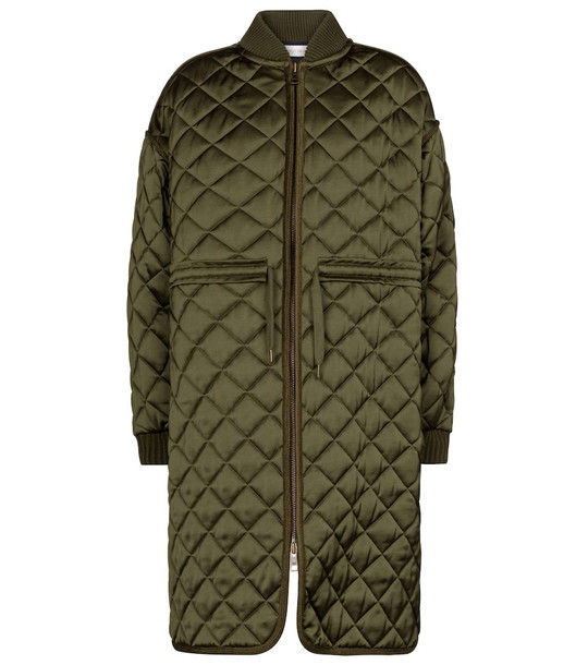 See By Chloé Quilted coat in green
