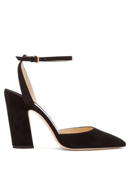 Jimmy Choo - Micky 100 Suede Pumps - Womens - Black