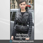 coat,american singer,sofia carson,leather jacket,jacket,fashion,style,outfit,womenswear,lifestyle