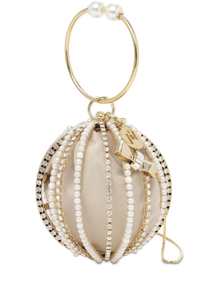 ROSANTICA Mini Loulou Crystal Top Handle Bag in gold