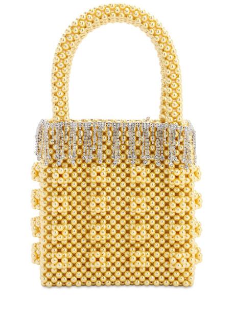SHRIMPS Huckleberry Beaded Top Handle Bag in yellow