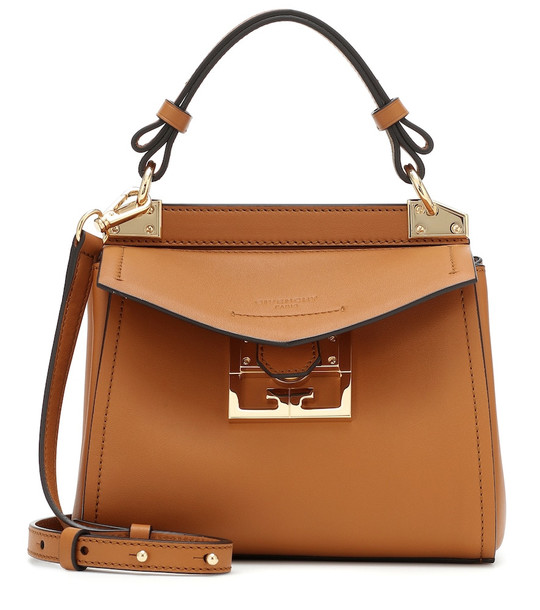 Givenchy Mystic Mini leather shoulder bag in brown