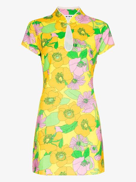 Rixo Lolita floral print cotton mini dress