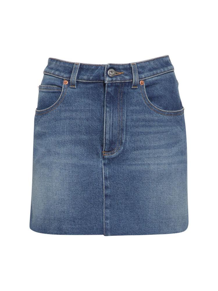 VALENTINO Denim Mini Skirt in blue