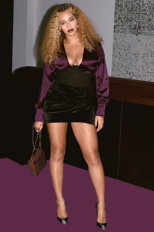 skirt mini skirt top bodysuit beyonce pumps bustier