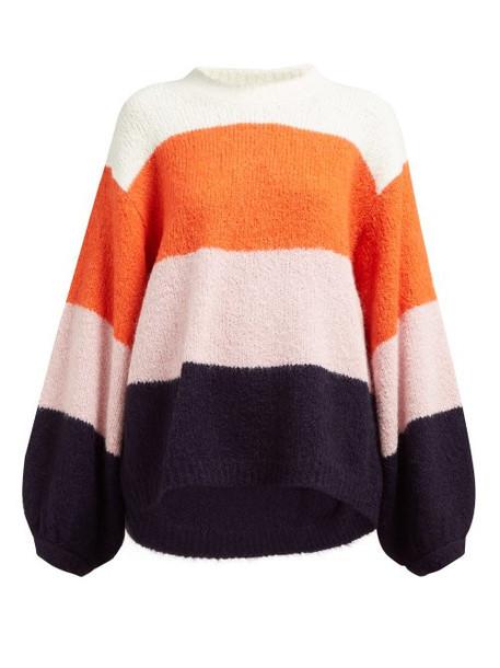 Acne Studios - Kazia Wide Stripe Sweater - Womens - Pink Multi