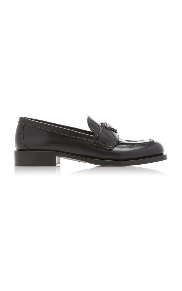 Prada Patent Leather Loafers in black