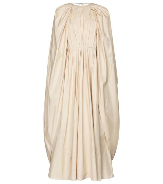 Roksanda Elior cotton poplin midi dress in beige